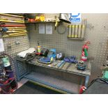 Welding  table, with selco hand held welder, c clamps, hoods, etc LIFT OUT CHARGE  £40