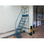 Warehouse ladder, 7 step, blue LIFT OUT CHARGE £10