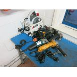 [Lot] Assorted power tools, (4) angle grinders, (1) planer LIFT OUT £5