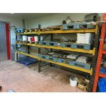 Sections  pallet racking, (3) 2.25 m x 900 mm deep uprights, (12) 2.3 m cross beamsBTR