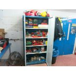 [Lot] Storage  cabinet, with contents, and mobile tool chest LIFT OUT CHARGE £10