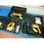 [Lot] Dewalt  power tools, includes drill, grinder and jig saw