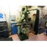 Turret mill , with Heidenhain DRO and powered axis LIFT OUT CHARGE £75