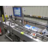 Mettler Toledo checkweigher, model CM9400 XS, s/n 090 54711, high speed with manuals (2009)