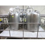 Double vacuum tanks, (2) vaccum SS dome bottom tanks, with, (SUBJECT TO BULK BID OF LOTS 103-118)