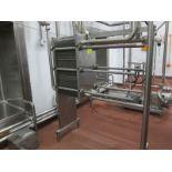 AGC plate heat exchanger, model Pro 2-SH, s/n 6185, max heat 250 F, max press, 150 psi (2006)