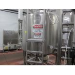 DCI stainless steel supply tank, s/n 93-D-47303-A, 500 gallon jacketed, with manhole, top mounted