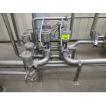 [Lot] Stainless steel pipework & valves, assocatied with outside silos, (9) GEA, (1) Endress +