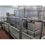 Osgood Industries 24 oz. cup filler, model 4600, s/n 69-292-B, 220 vac, 3 ph, 30 amp, 60 hz, 5 hp,