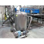 Raw waste recovery tank, free standing, SS flat bottom with, (SUBJECT TO BULK BID OF LOTS 103-118)