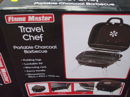 Flame Master Bbq.Flamemaster Travel Chef Portable Charcoal Bbq Boxed