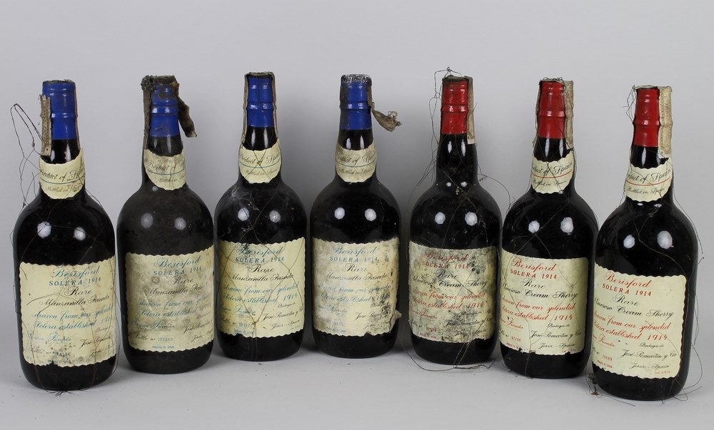 Vintage Sherry: three bottles (70cl) of Berisford Solera 1914 Sherry, Rare Amoroso Cream,