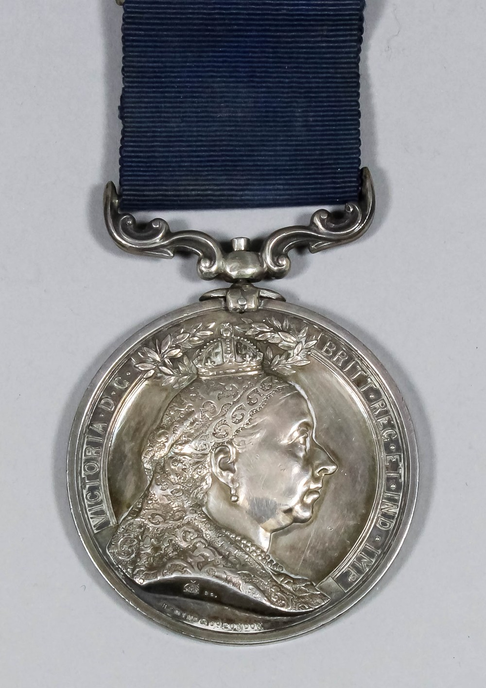 A Victoria silver medallion - the Folkestone, Hythe and Sandgate medal for the rescue of the crew of