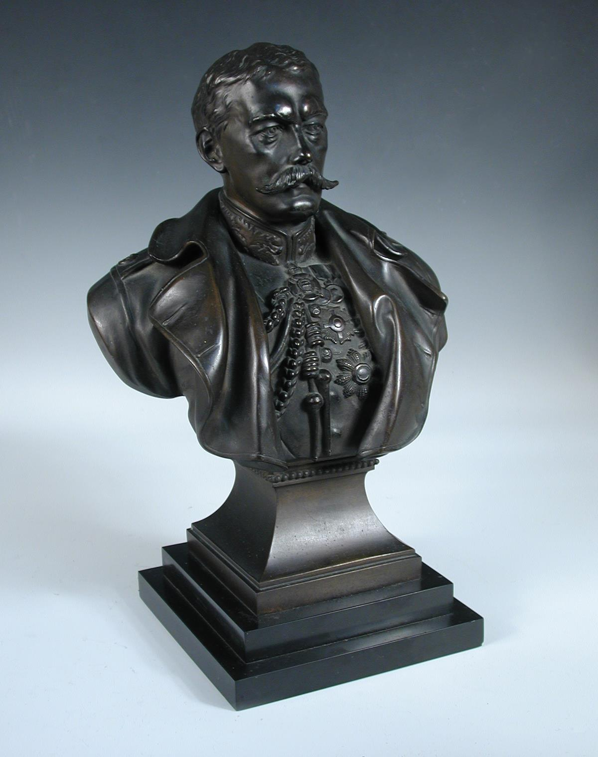 Richard Claude Belt (1851-1920), a bronze bust of Lord Kitchener together with other memorabilia - Image 2 of 2