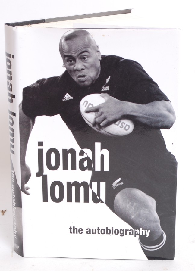 RUGBY; Jonah Lomu - autobiography - signed autographed book