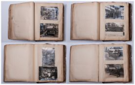 Unusual Industrial Art Photographs, A Large Vintage Album With 325 Photos Of Mill & Factory