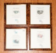 Set of Four Framed and Glazed Singapore Stamps of Crabs with Coloured Matching Prints. 21st August