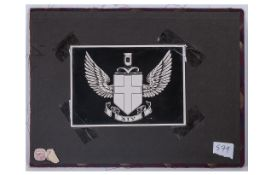 Photo Album Cover with Photograph of The Owners Crest and Album Sellers Trade Label - Hanig Album.