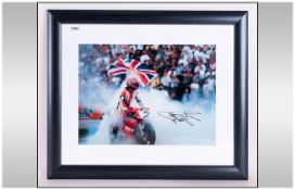 Carl Fogarty Signed Photograph, mounted & signed
