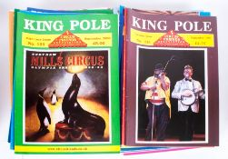 42 Circus Magazines, The King Pole, Glossy Coloured Editions - Various Dates From Various Venues
