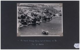 An Imperial Airways Flying Boat At Tiberias on The Sea of Galilee. Traces of a Signature to Margins,