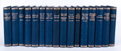 Set of 16 Dickens Novels In Blue - Gilt Spines, By Hazell, Watson. London. Good For Bookcase