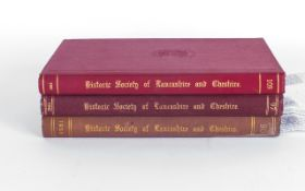 4 Volumes, Historic Society Of Lancashire & Cheshire Transactions Of The Society For The Years (With
