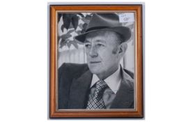 Signed Photo, with Dedication by Alec Guiness. 1976. Size 8 x 9.5 Inches.
