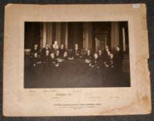 Large Photograph of The Master Treasurer Secretary and Chamberlain and Officer of The Company of