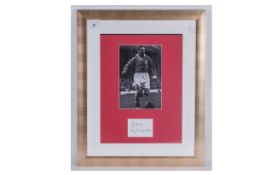 Stanley Matthews Photographs with attached signature of the great player