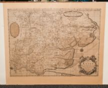 Robert Morden 17th Century Map of Essex By Robert Morden and Joseph Pask - London. Unframed. Size