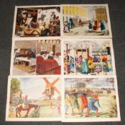 40 Coloured Classroom Educational Posters, History Series By Macmillians. Unframed. Size 18 x 22
