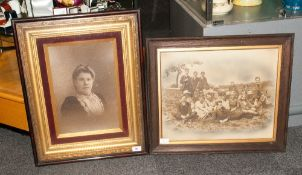 Victorian Photograph Of An Elegant Lady Of The Late Victorian Period in an encased gilt frame with