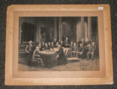 Large 19th Century Photographic Print of Gentleman In Chambers, Dated 1893. Edinburgh, Pencil Signed