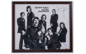 Signed Photo - Kenny Ball and The Jazz Man. Dedication - Cheers Kenny Ball. Size 12 x 10 Inches.