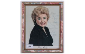 Signed Photo 'Ruby Murray