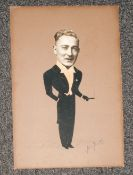 Original Silhouette By Arthur Forester, Signed and Dated In Pencil 1942. Size 18 x 12 Inches -