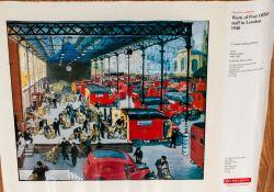 Post Office Poster 1948 - A London Loading Platform, Artist Grace Golden 1904-1993.