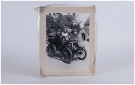 Old Photograph of Vintage Car and Passengers. Bl.446. Photo Size 6.1/4  x 8.1/4 Inches.