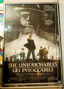 The Untouchables Film Poster Italian Edition (Roma) Gli Intoccabili, Framed & Glazed. 40x54''