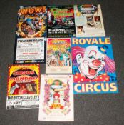 18 Circus Posters, Various Sizes, Mainly From The Blackpool Tower and Lancashire Area. Coloured