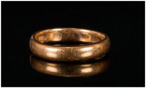 22ct Gold Wedding Band Hallmark Sheffield 1871, 5.1 grams