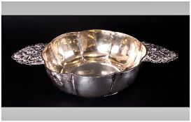 Georgian / Austrian Silver - Hand Crafted Two Handle Porringer. Fully Hallmarked to Base For 1810.
