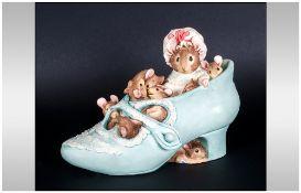 Border Fine Art Studios Beatrix Potter Money Box In The Form Of Hunca Munca With Her Babies In a