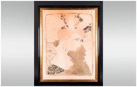 Henri Toulouse Lautrec Mademoiselle Marcelle Lender, en buste. Color lithograph On Cream Wove Paper,