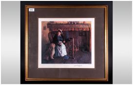 David Shepherd Ltd and Numbered Edition Pencil Signed Colour Print. Title ' Cottage Companions '