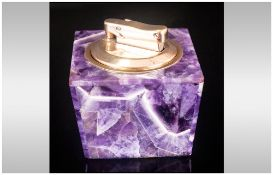 Blue John 1960/70's Retro Table Lighter, Excellent condition, 2'' in height, 2.75'' in diameter.