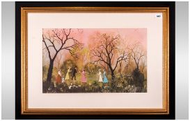 Helen Bradley (1900-1979) 'All On An April Evening' beautifully framed unsigned print. Acquired