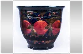 WITHDRAWN // William Moorcroft Signed Very Large Jardiniere ' Pomegranates and Berries ' Pattern.