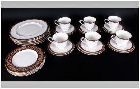 Royal Doulton Fine Bone China Part ( 30 ) Piece Tea and Dinner Service ' Tennyson ' Pattern H.